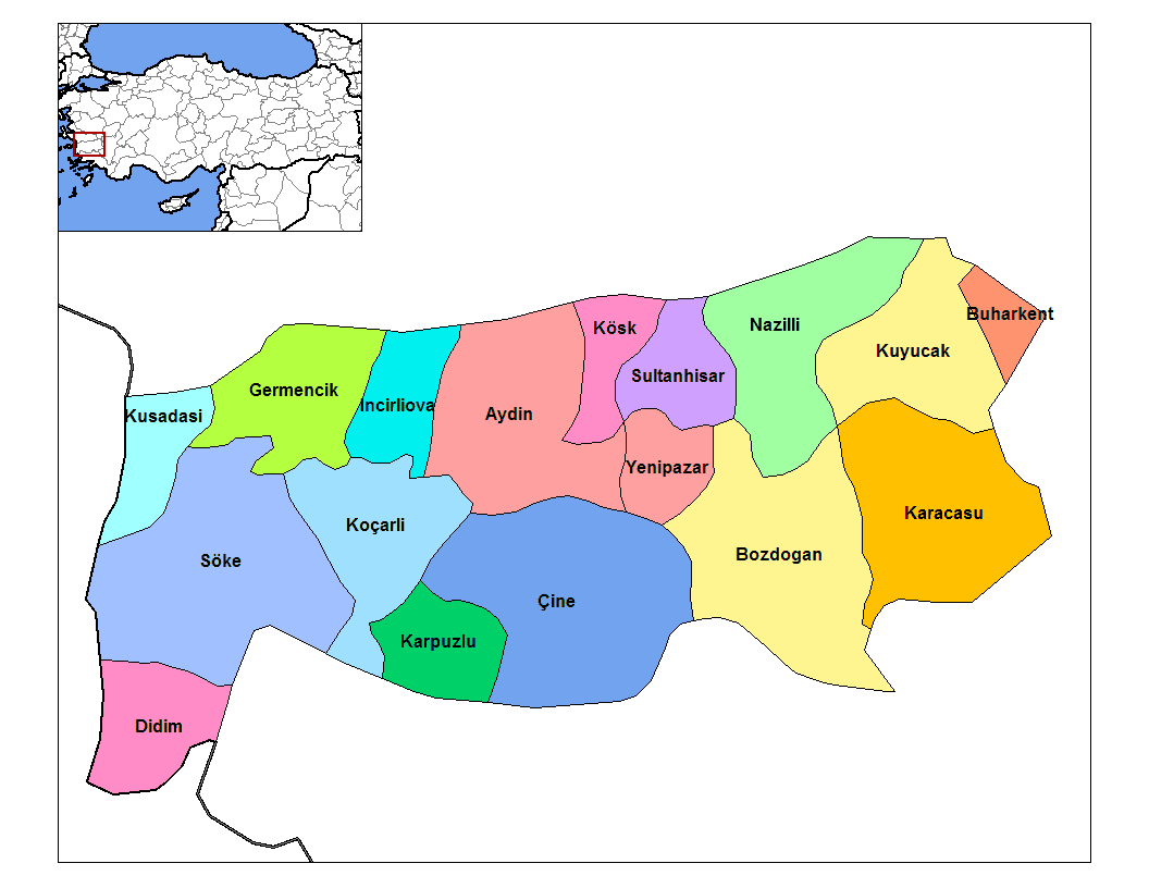 Aydin Districts