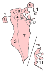 Bahrain Municipalities Numbered