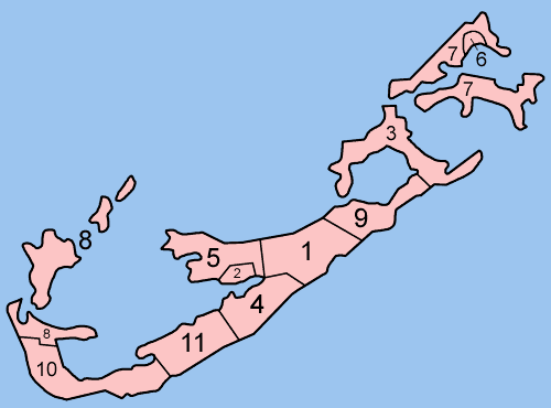 Bermuda Parishes Numbered