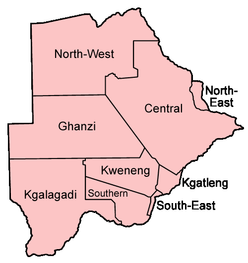 Botswana Districts Named