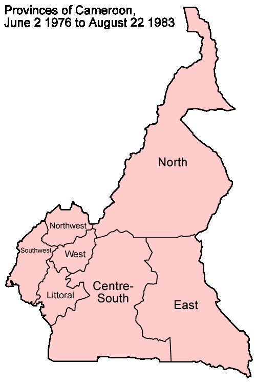 Cameroon Provinces 1972 1983