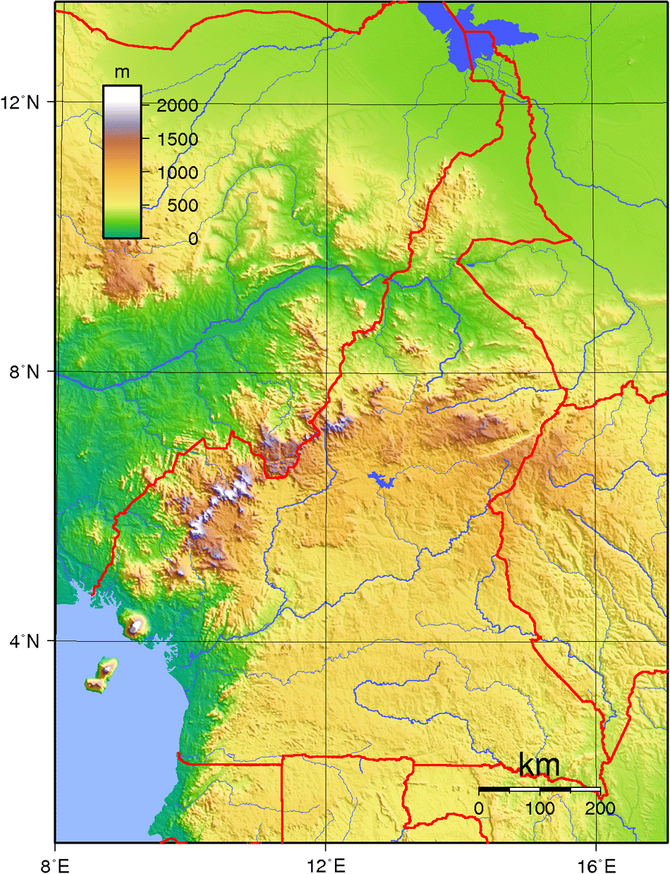 Cameroon Topography