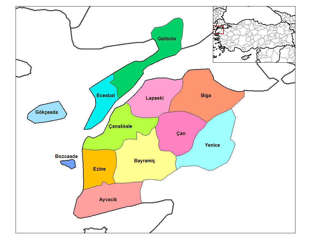Canakkale Districts