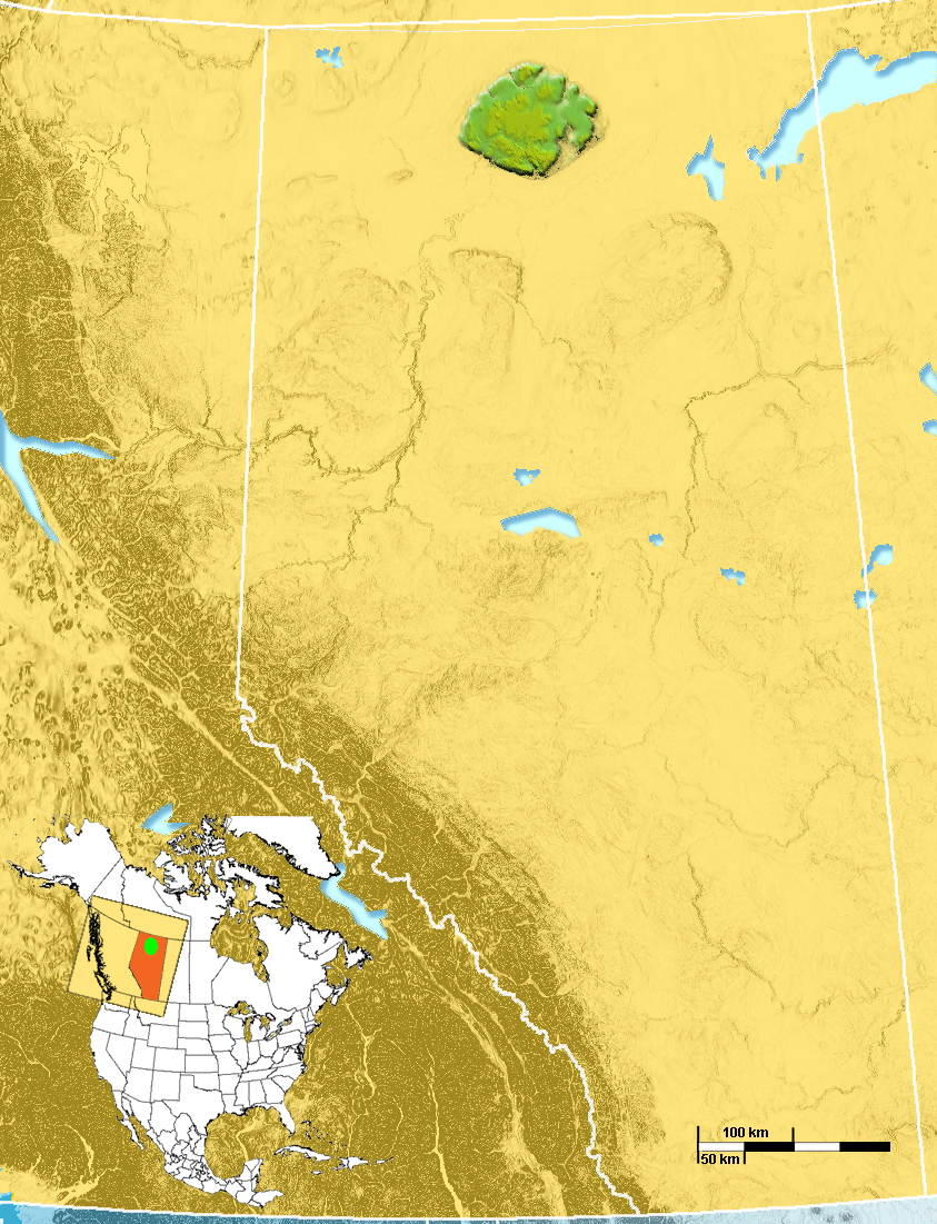 Caribou Mountains Location
