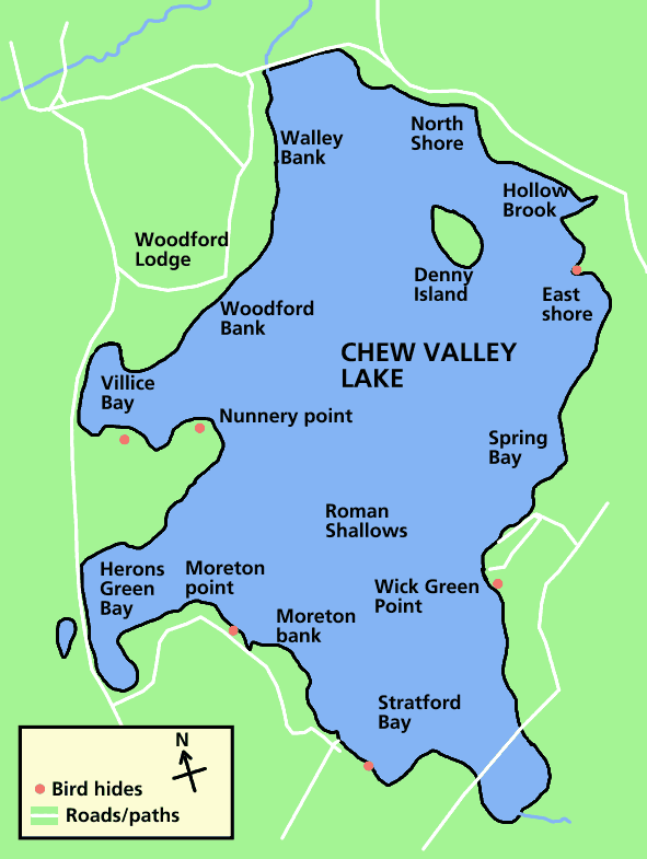 Chew Valley Lake Map