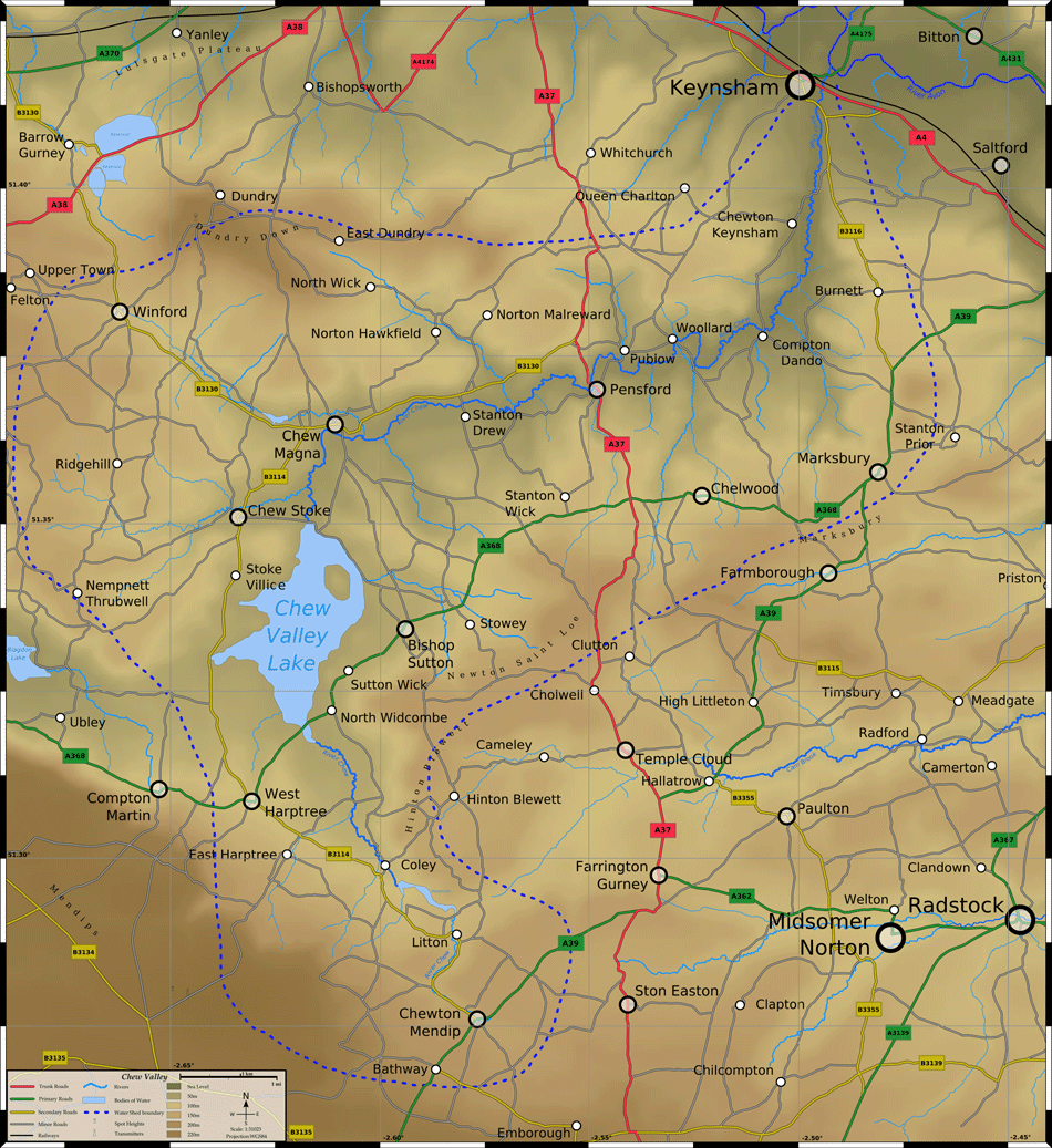 Chew Valley Map