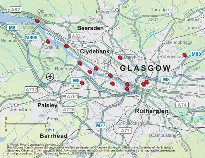 City Center Map of Glasgow