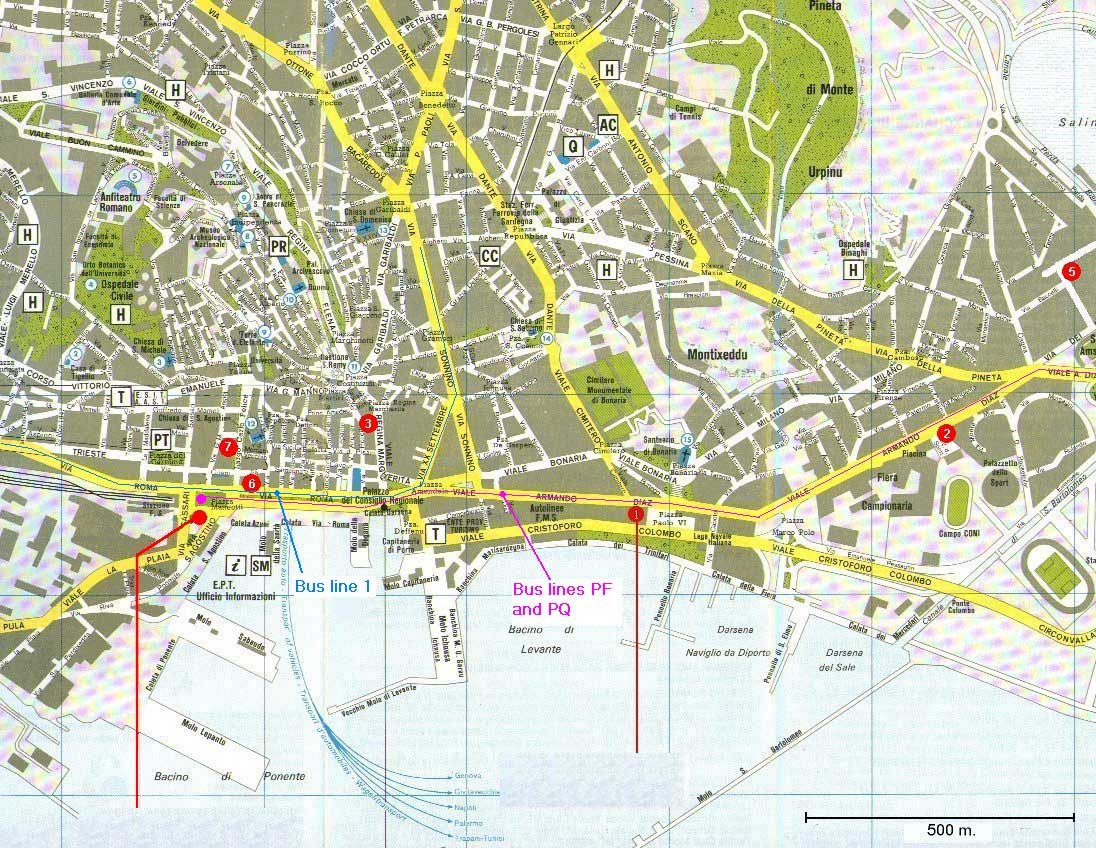 City Map Cagliari 2 Mapsof Net