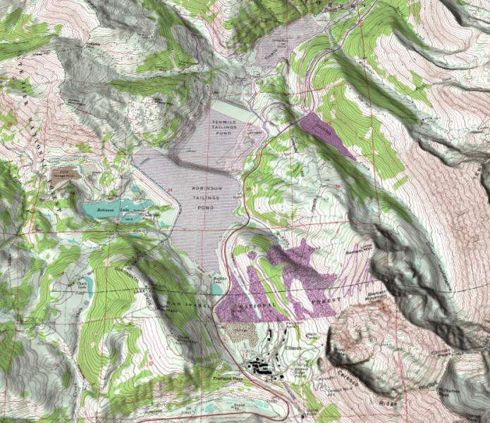 Climax Colorado Shaded Relief Perspective 3