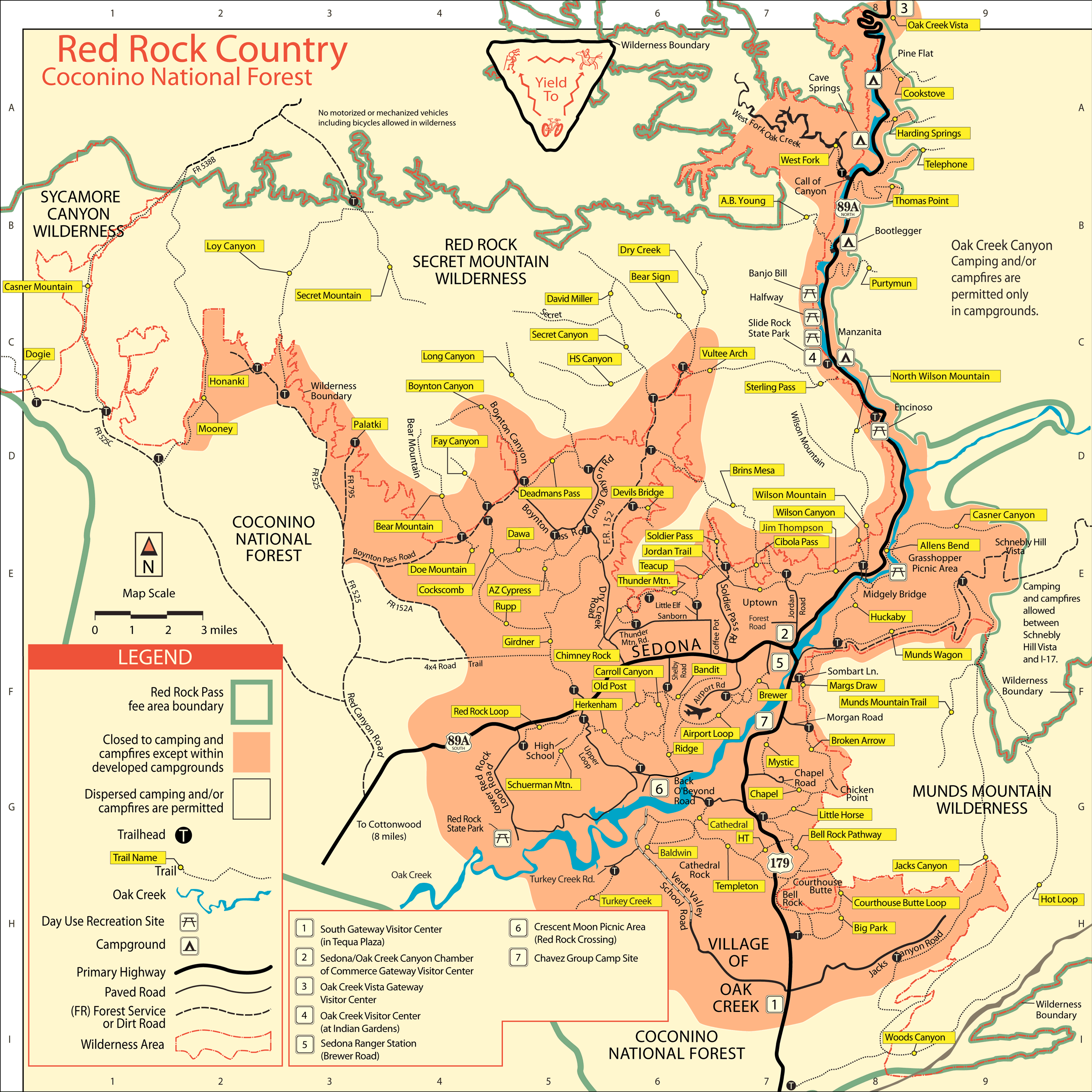 Coconino National Forest Map