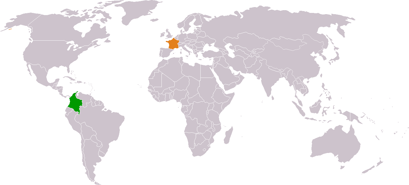 Colombia France Locator 1