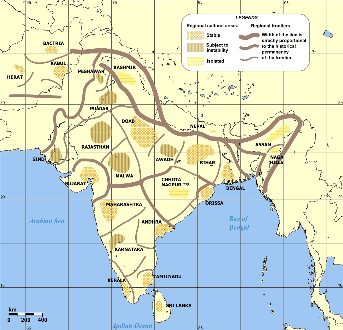 Cultural Regional Areas of India