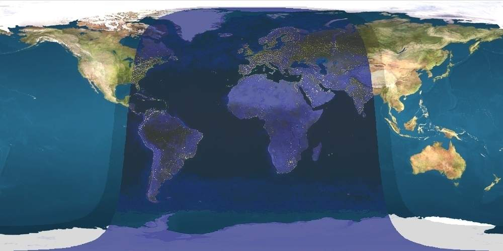 Daylight Map, Nonscientific (0000 Utc)