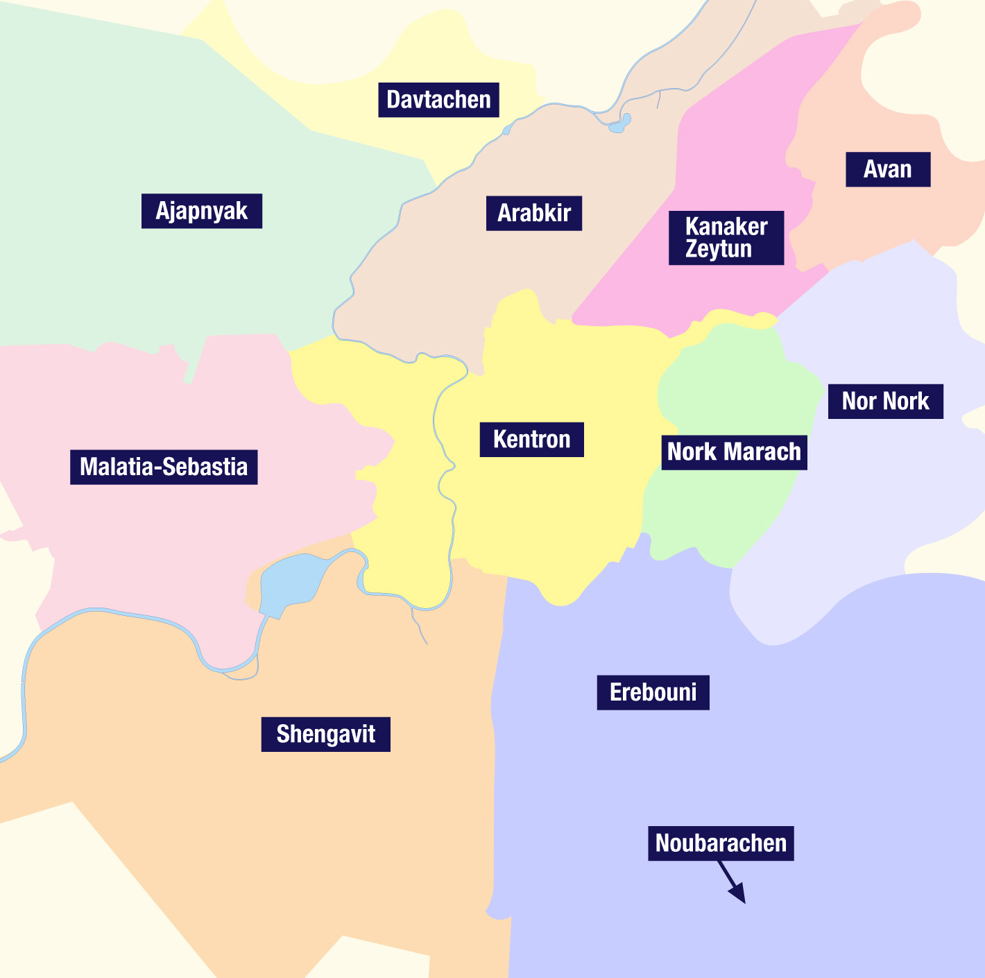 Districts Erevan