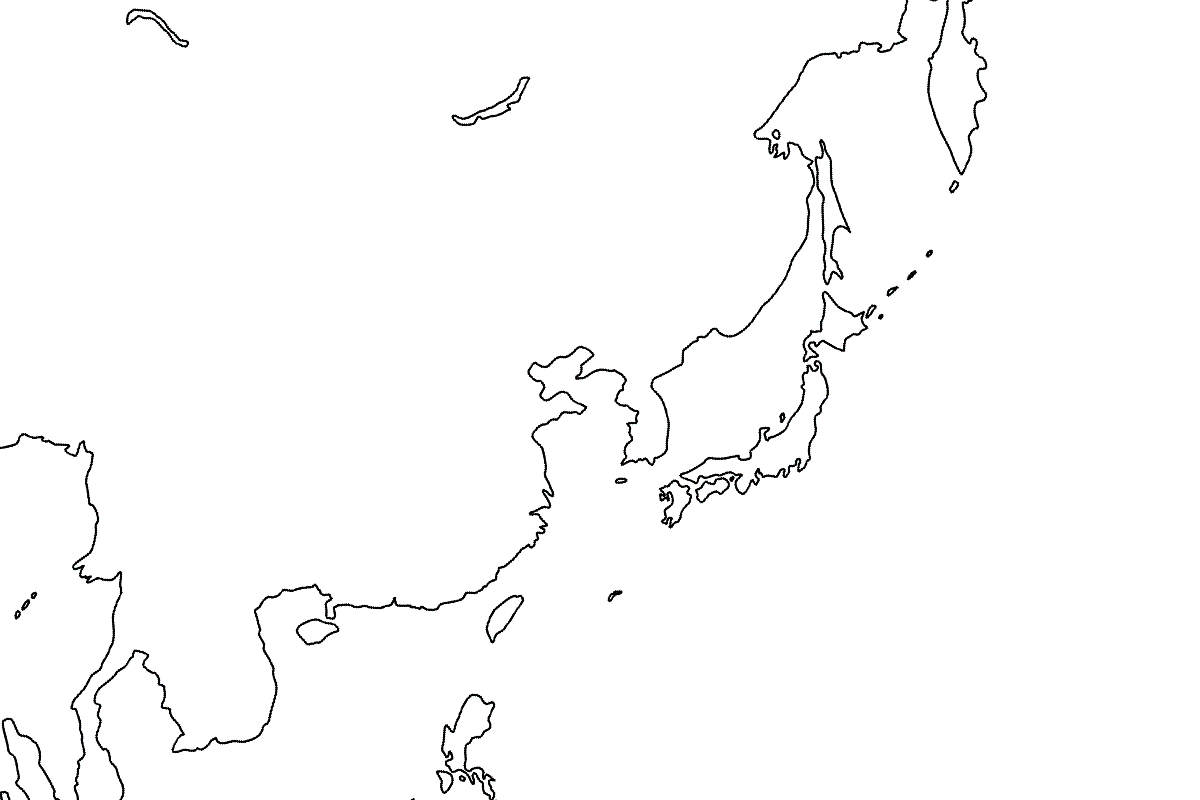 East Asia Map Blank
