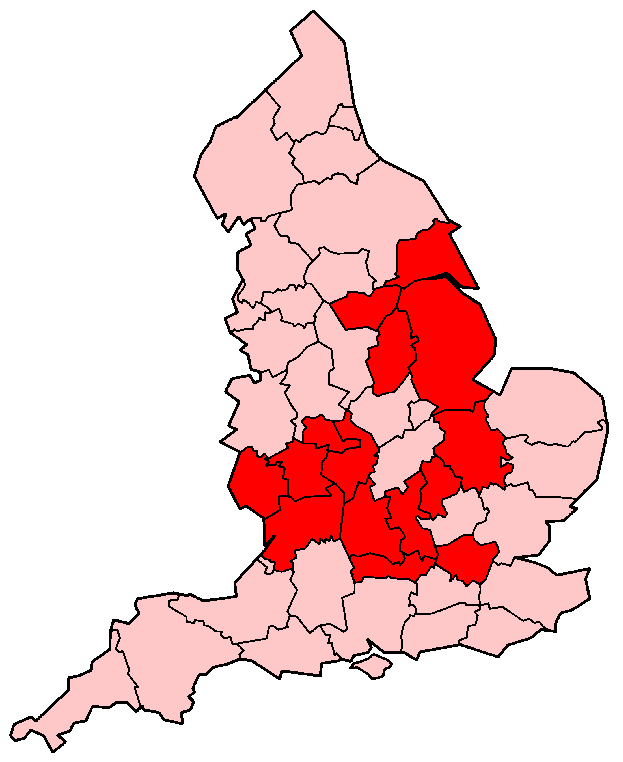 English Counties Flooded In 2007