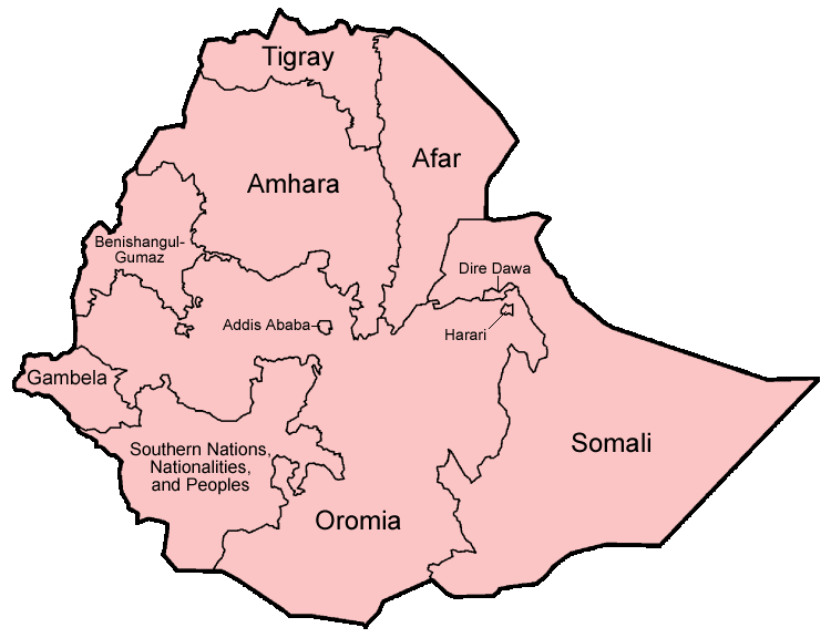 Ethiopia Regions English