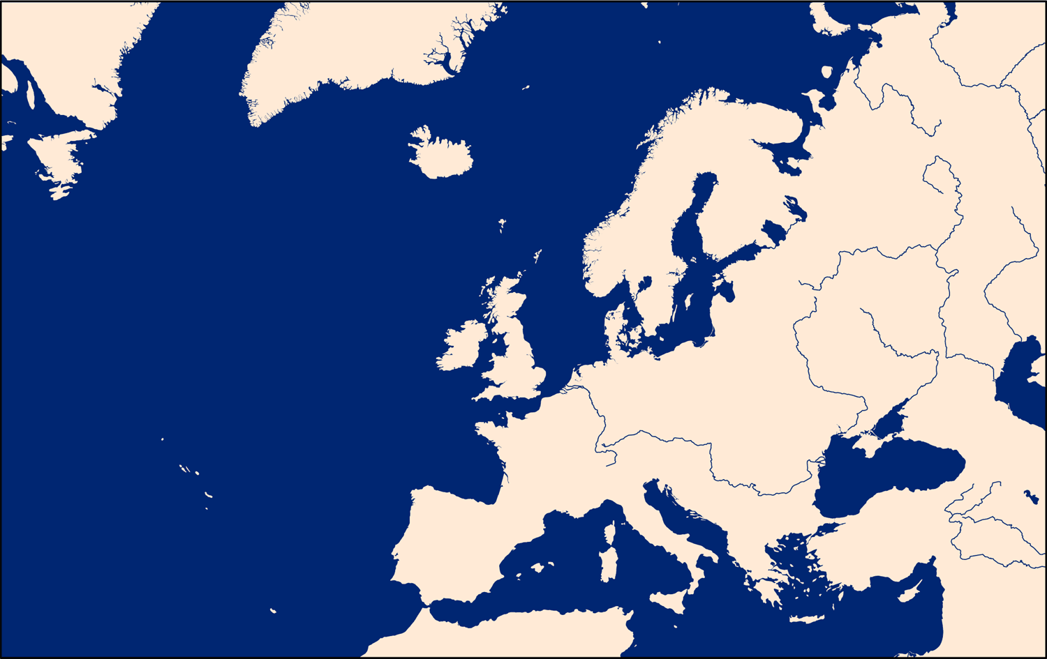 Europe And North Atlantic Map