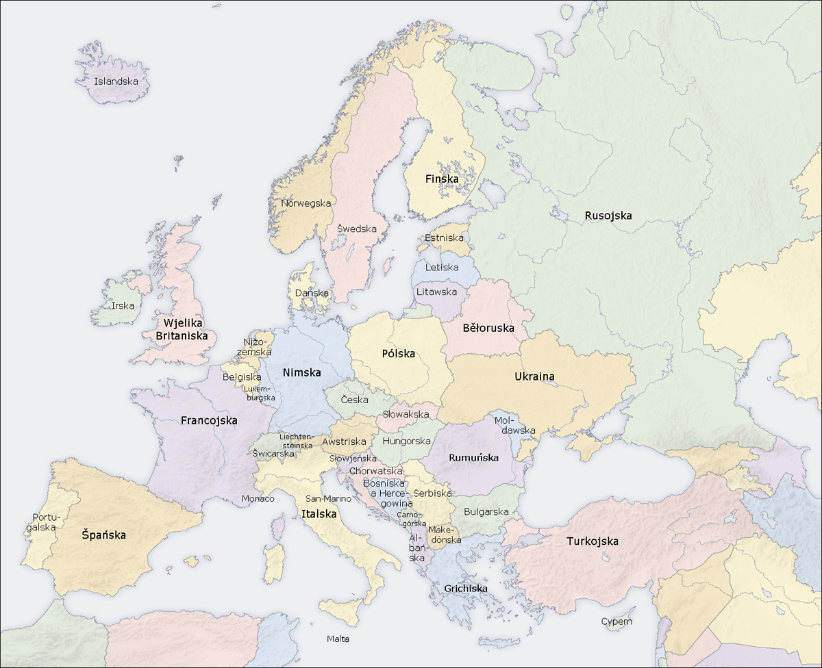 Europe Countries Map Dsb