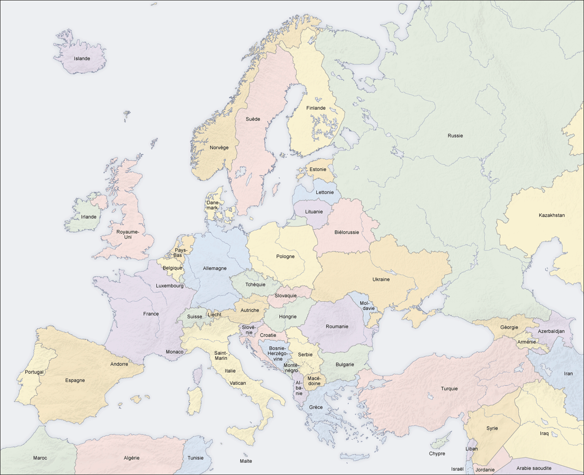 Europe Countries Map Fr