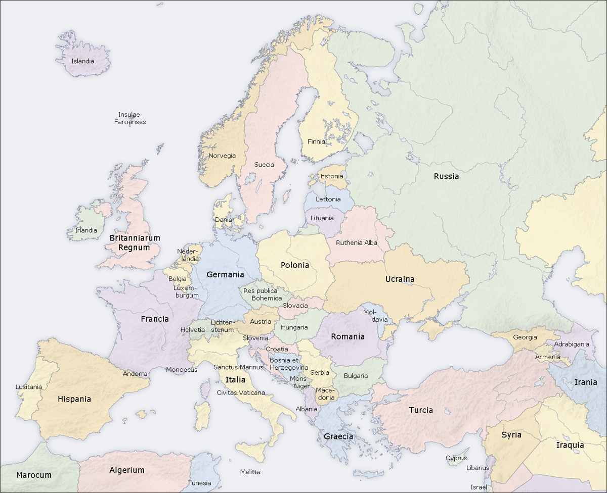 Europe Countries Map La