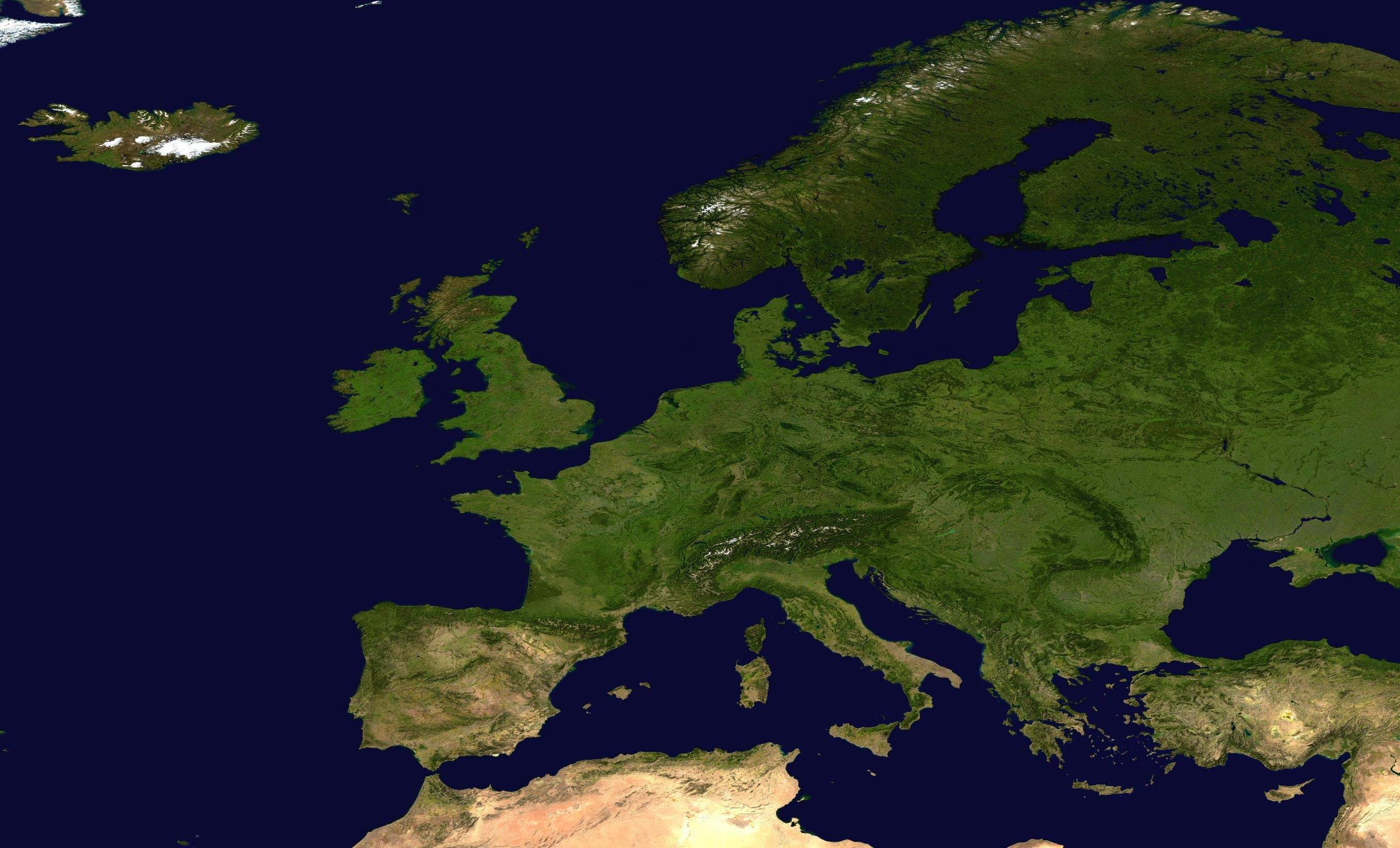 Europe Nasa Satellite