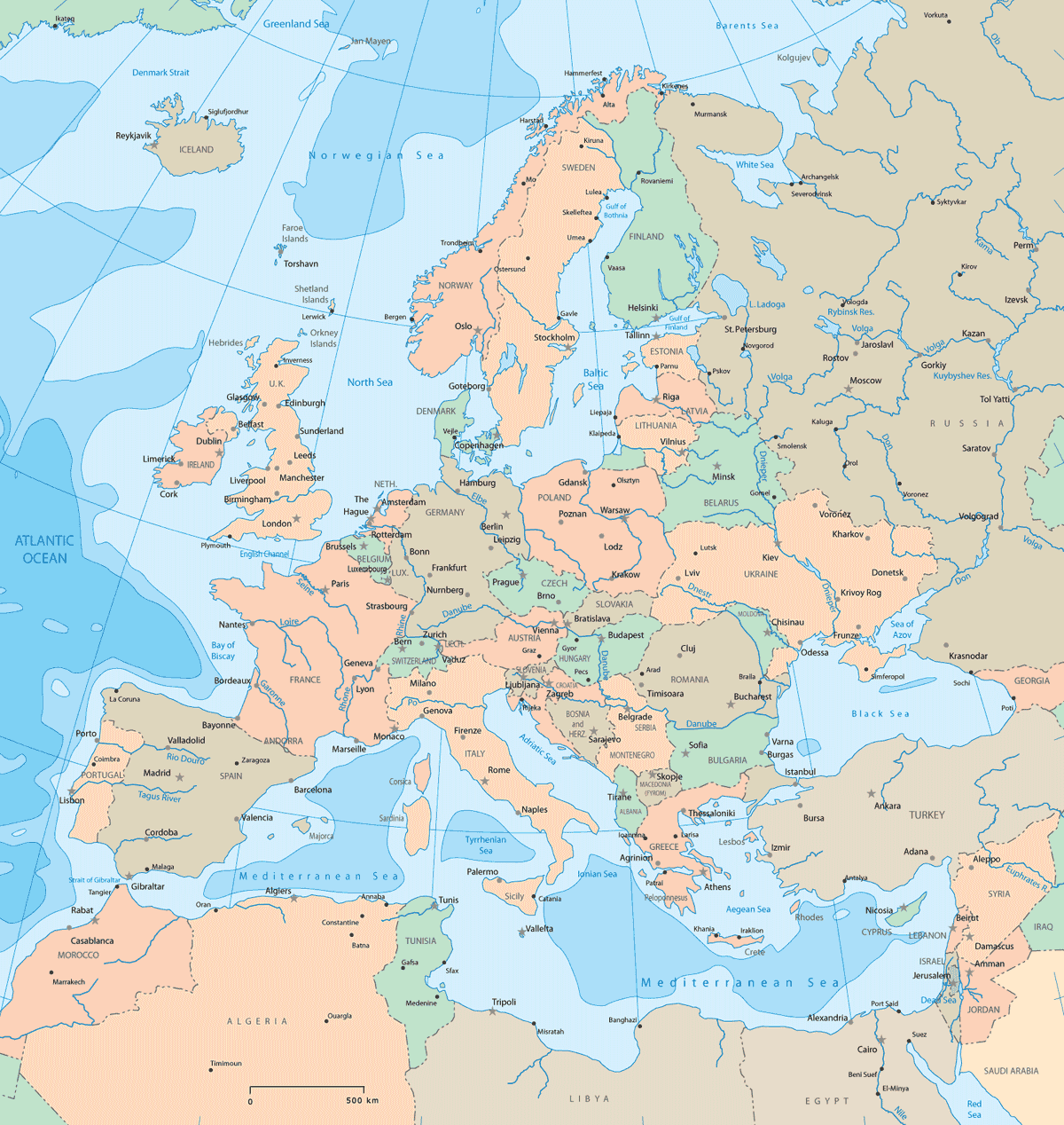 Europe Political Map 2