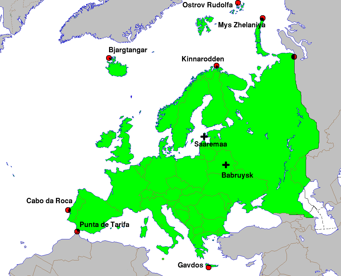 Extreme Points of Europe