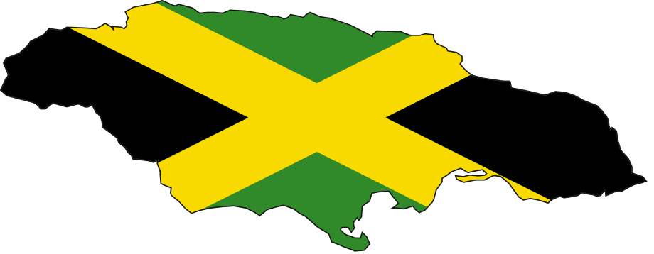 Flag Map of Jamaica