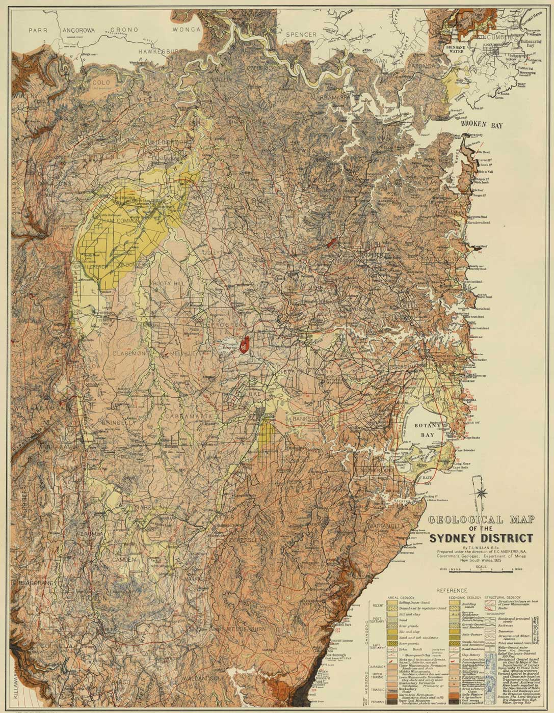 Geological Map of Sydney