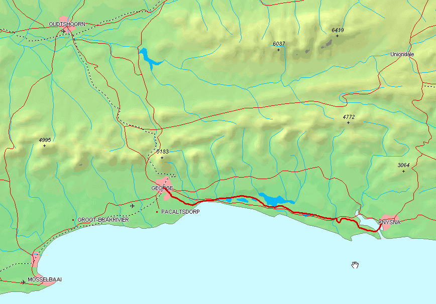 George Knysna Map