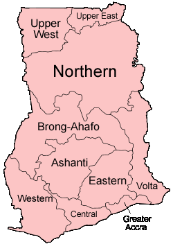 Ghana Regions Named