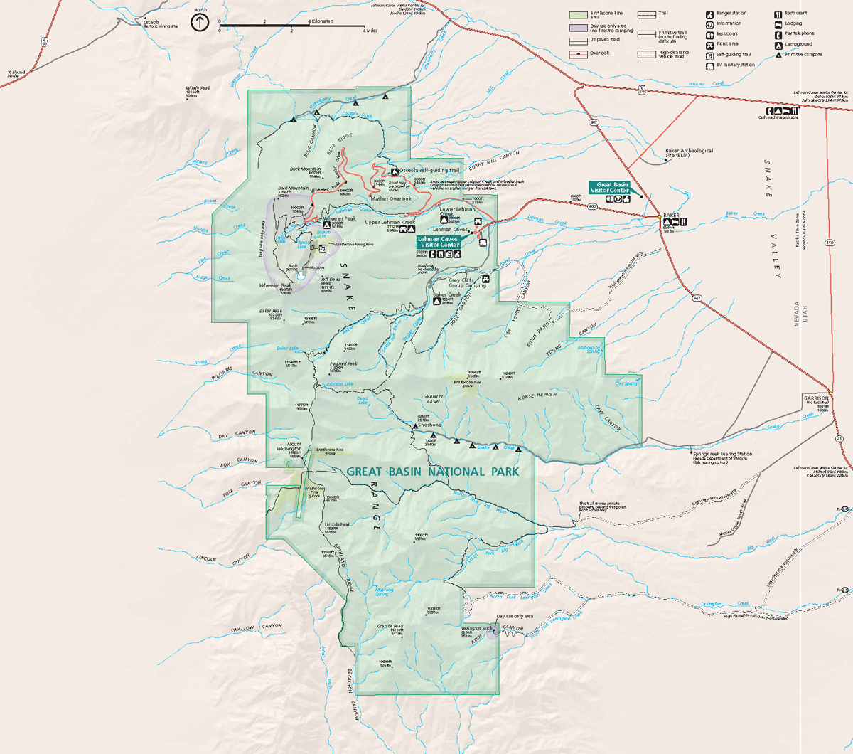 Great Basin National Park Map 2007 04