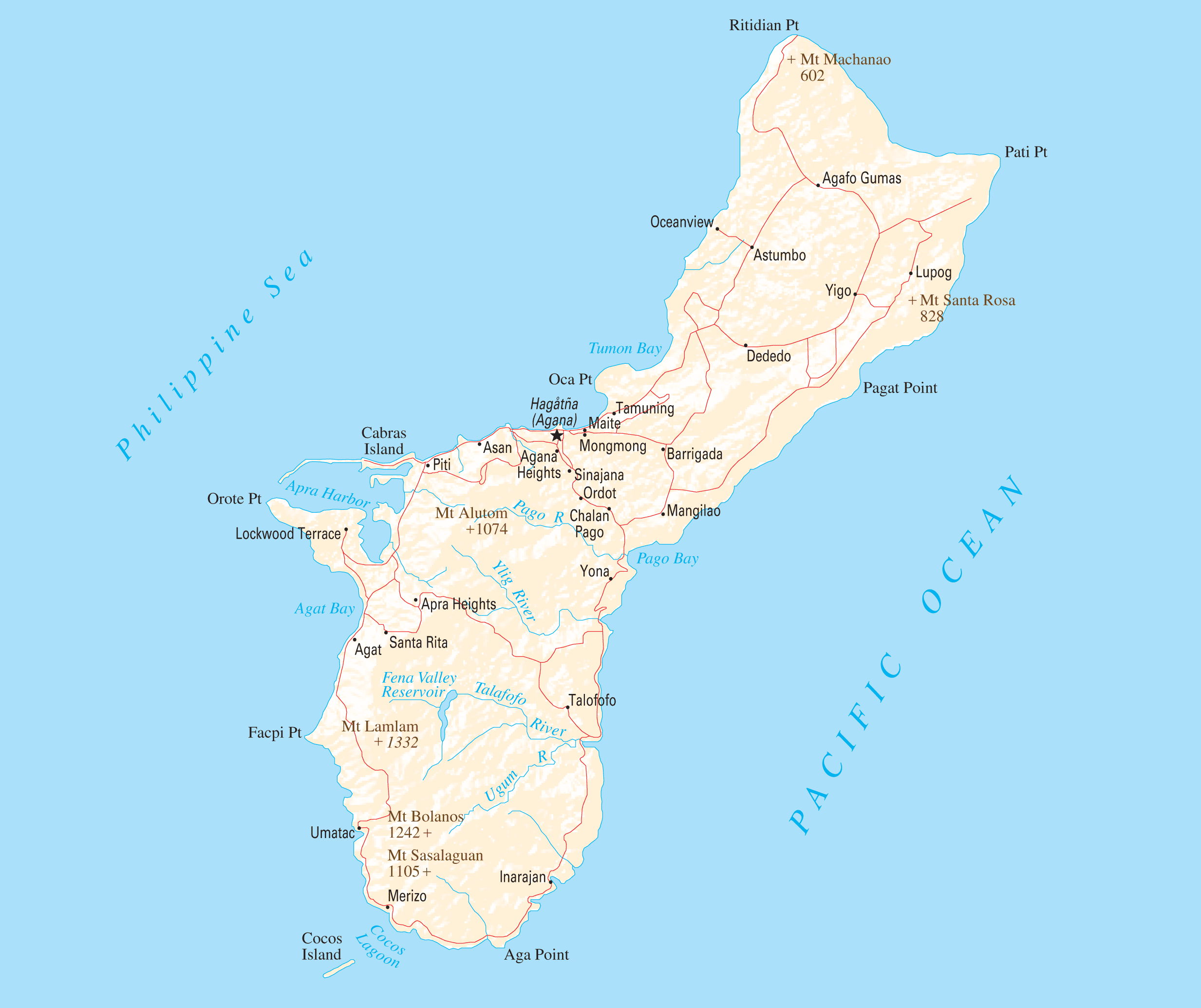 Guam Reference Map