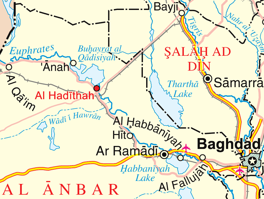 Haditha Location Map