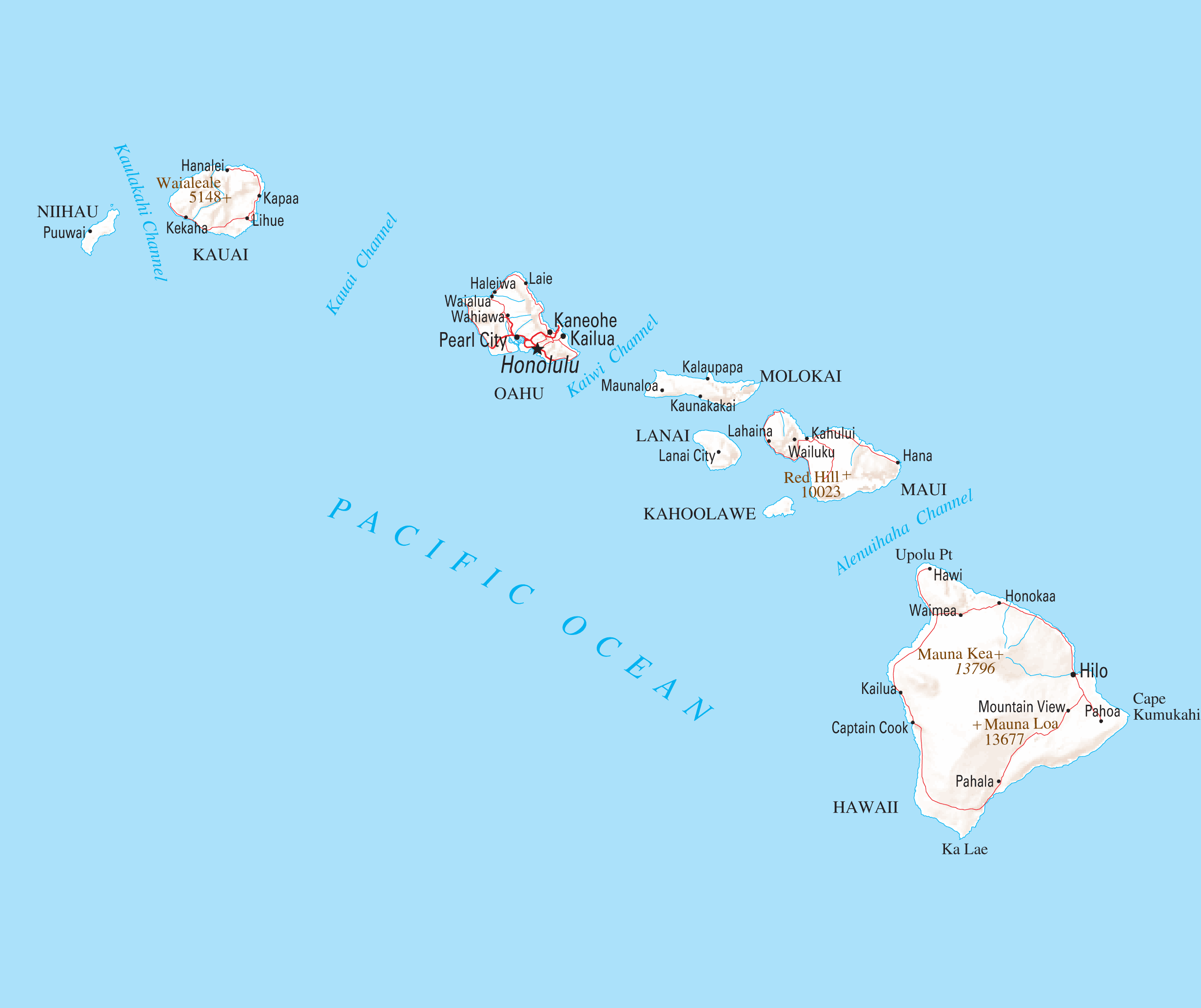 Hawaii Reference Map