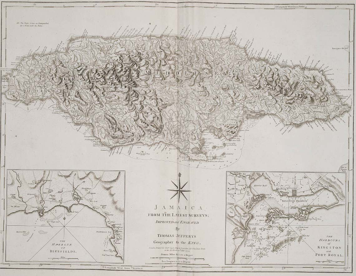 Historical Map Jamaica