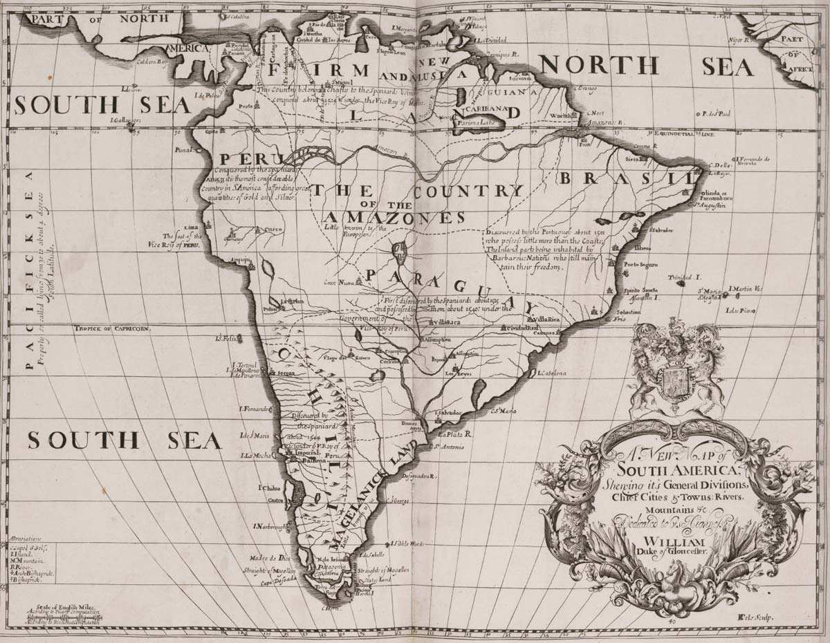 Historical Map South America (1704)