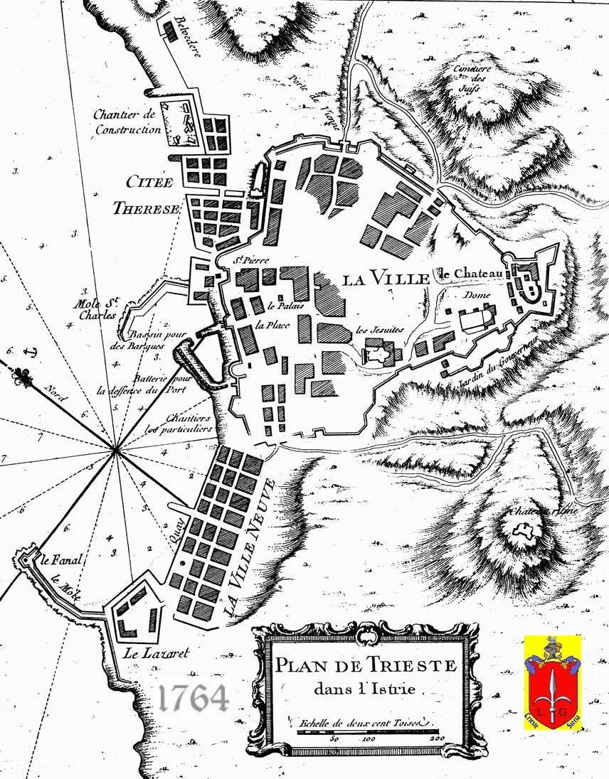Historical Map Trieste