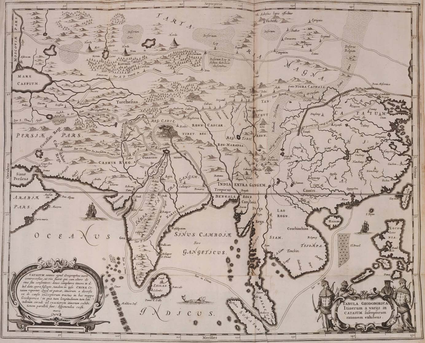 Historical Map of Asia (1670)