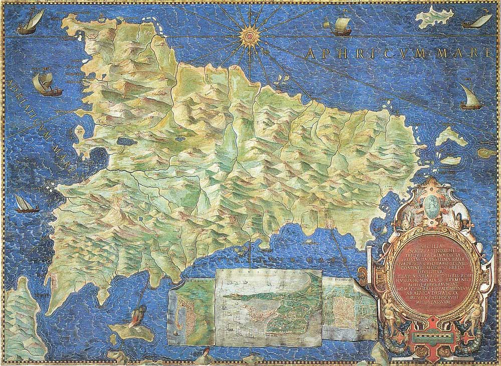 Historical Map of Sicily