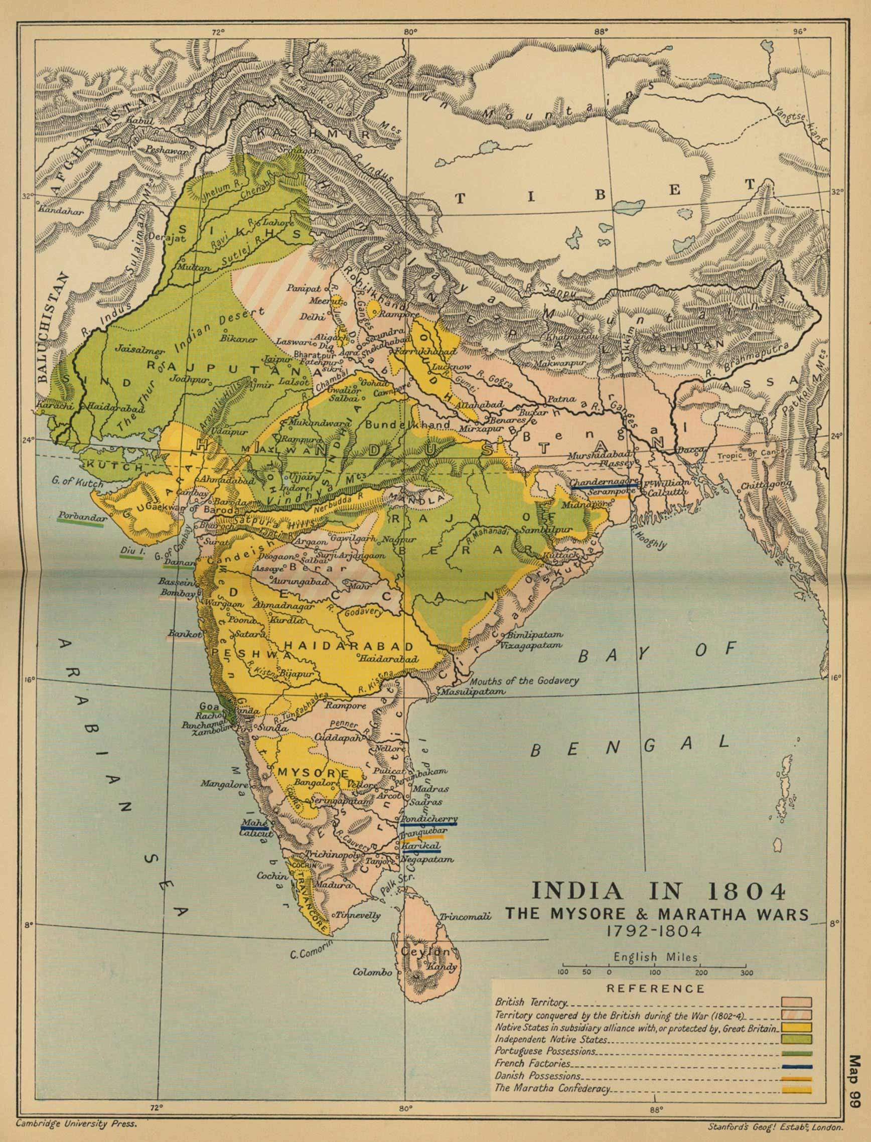 Historical Maps India In 18