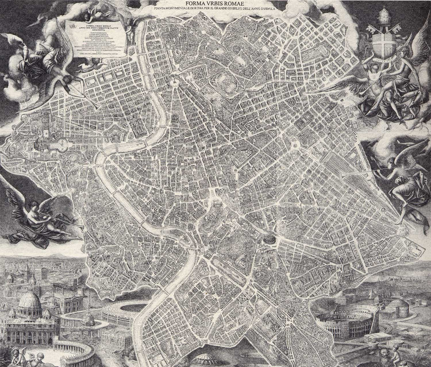 Historical Rome City Map