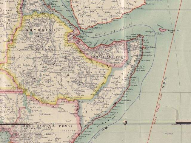 Horn of Africa Map Around 1900