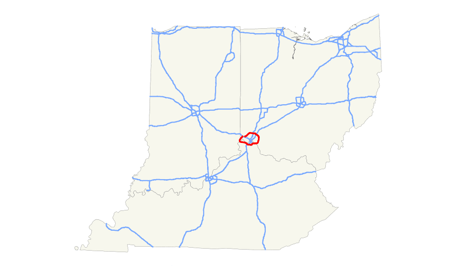I 275 (in Ky Oh) Map