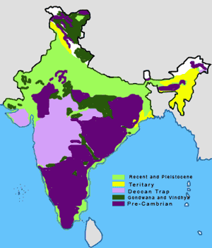India Geology Map
