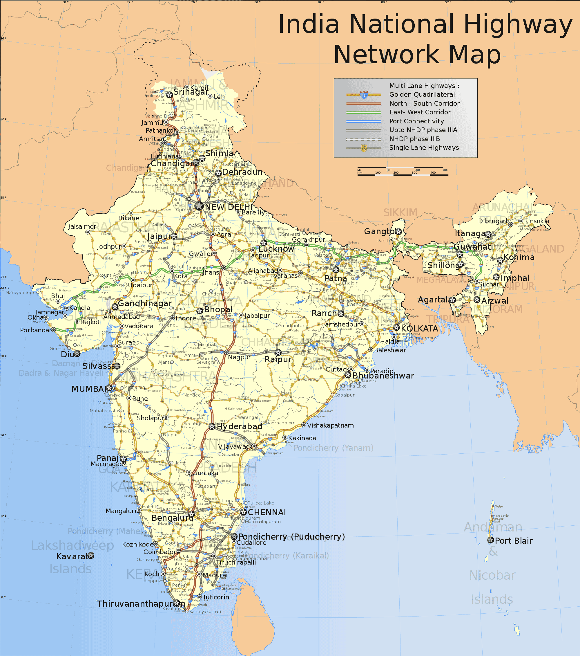 India National Roads Map