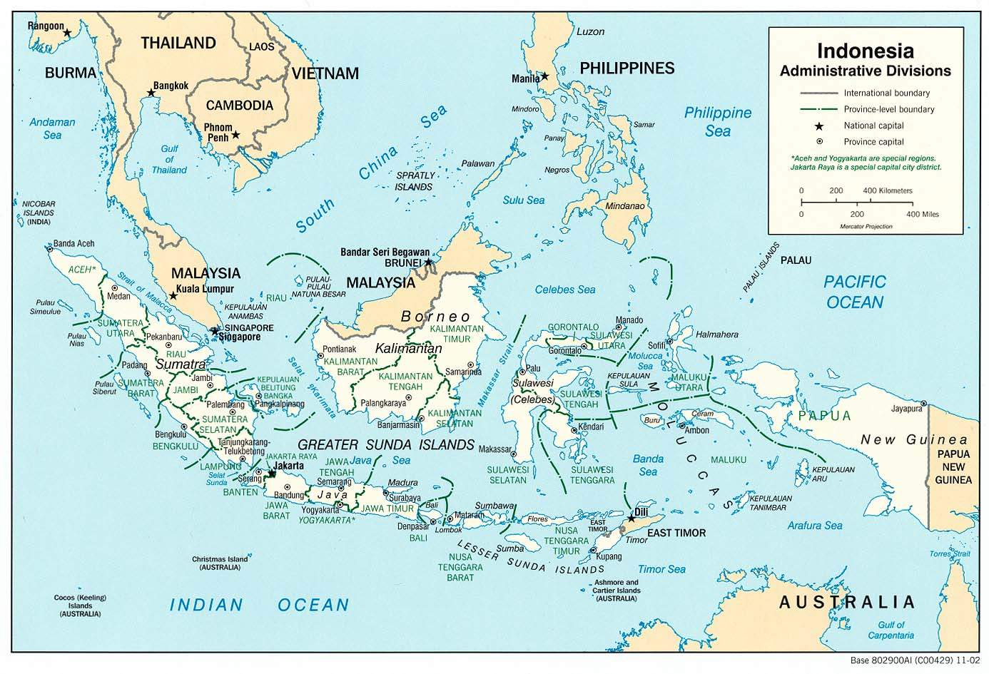 Indonesia Adminstrative Districts