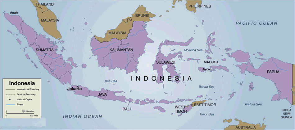 Indonesia Country Map 2