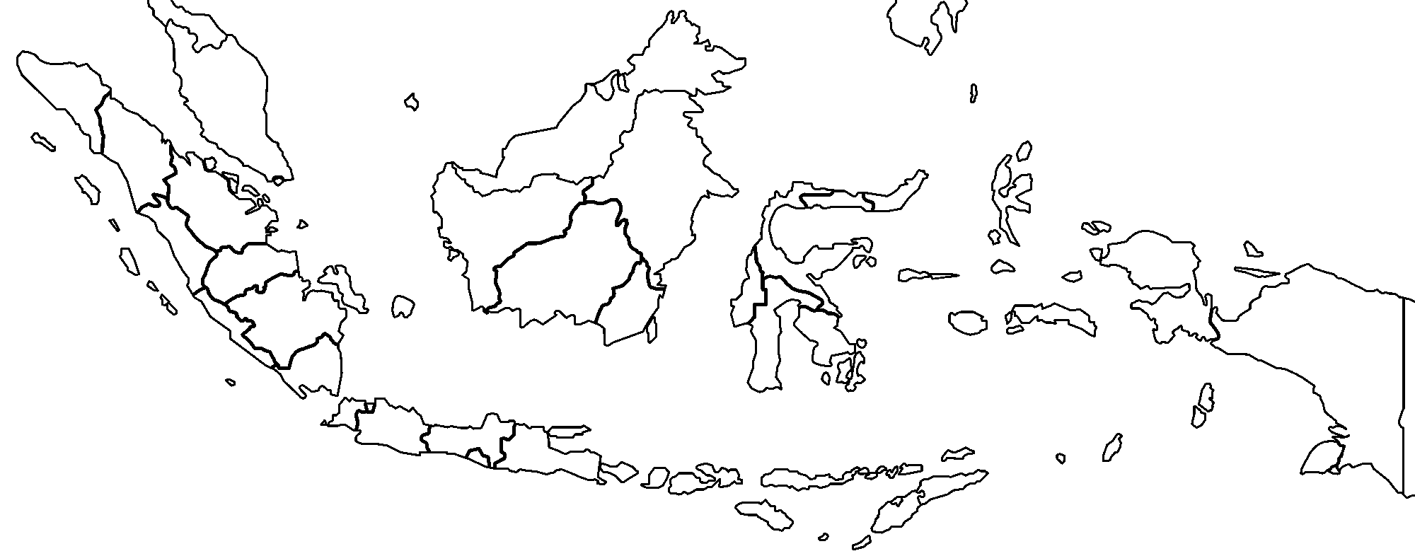 Indonesia Provinces Blank
